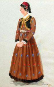 Αθηνά Ταρσούλη. Γυναίκα με φορεσιά Σιάτιστας