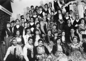 Εκδήλωση του Πολιτιστικού Τμήματος του Γυμναστικού Συλλόγου Αγιάσου Όλυμπος στη Μυτιλήνη (1961)